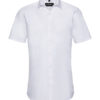 Mens Short Sleeve Ultimate Stretch Shirt Russel - white