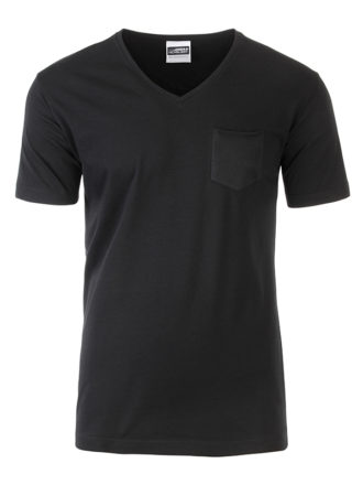 Mens T Pocket James & Nicholson - black