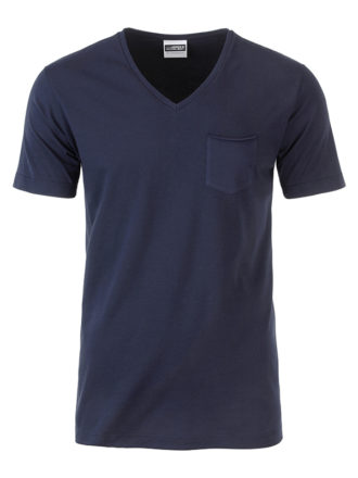 Mens T Pocket James & Nicholson - navy