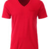 Mens T Pocket James & Nicholson - red