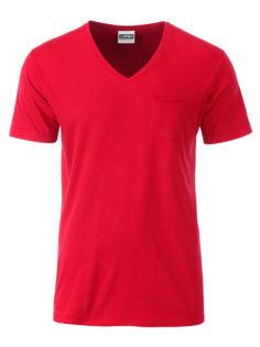 Mens T Pocket James & Nicholson - red