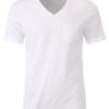 Mens T Pocket James & Nicholson - white