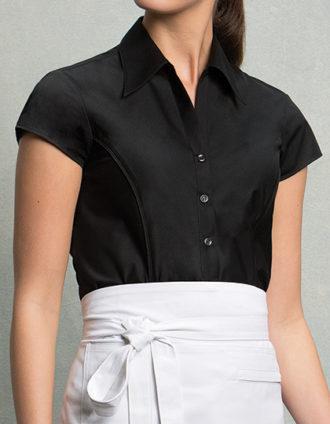 Womens Bar Shirt Cap Sleeve Bargear - Black