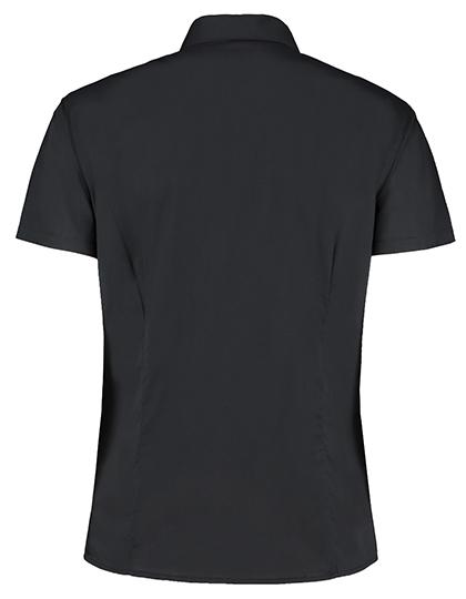 Womens Bar Shirt Mandarin Collar Long Sleeve Bargear - Rückseite