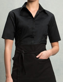 Womens Bar Shirt Short Sleeve Bargear - black