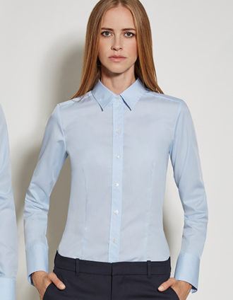 Womens Blouse Modern Fit Longsleeve Seidensticker - light blue