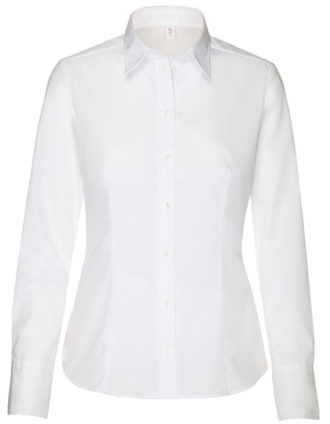 Womens Blouse Modern Fit Longsleeve Seidensticker - white