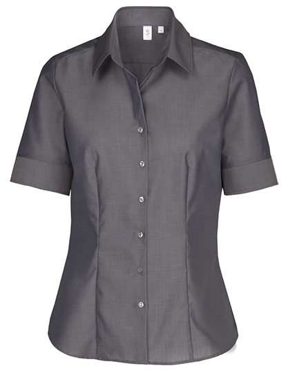 Womens Blouse Modern Fit Shortsleeve Seidensticker - anthracite
