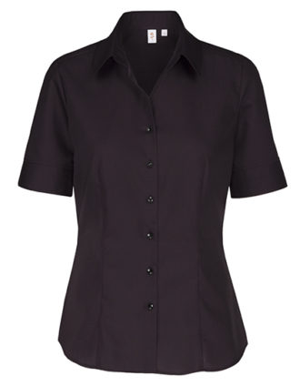 Womens Blouse Modern Fit Shortsleeve Seidensticker - black