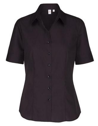 Womens Blouse Modern Fit Shortsleeve Seidensticker - black