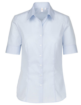 Womens Blouse Modern Fit Shortsleeve Seidensticker - light blue