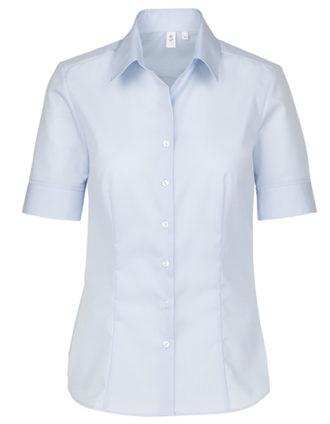 Womens Blouse Modern Fit Shortsleeve Seidensticker - light blue