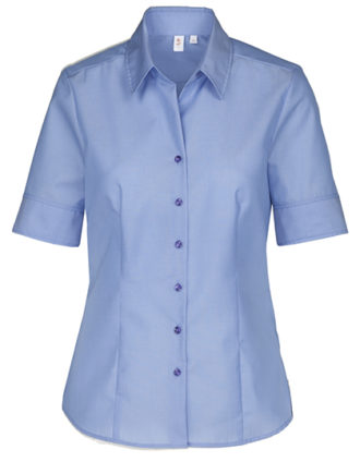 Womens Blouse Modern Fit Shortsleeve Seidensticker - midblue
