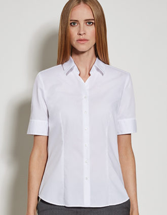 Womens Blouse Modern Fit Shortsleeve Seidensticker - white