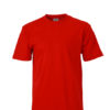 Basic T Shirt James & Nicholson - red