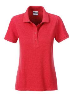 Ladies Basic Polo James & Nicholson - carmine red melange