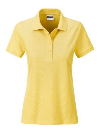 Ladies Basic Polo James & Nicholson - light yellow
