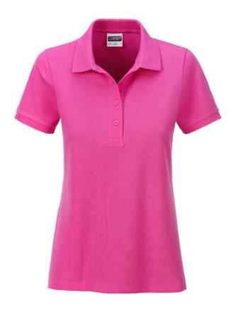 Ladies Basic Polo James & Nicholson - pink
