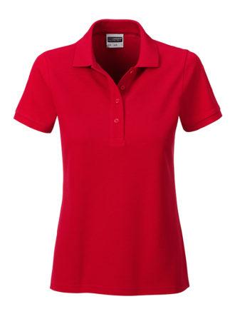 Ladies Basic Polo James & Nicholson - red