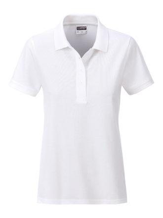 Ladies Basic Polo James & Nicholson - white