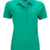 Ladies Pima Polo James & Nicholson - irish green