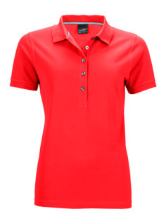 Ladies Pima Polo James & Nicholson - light red