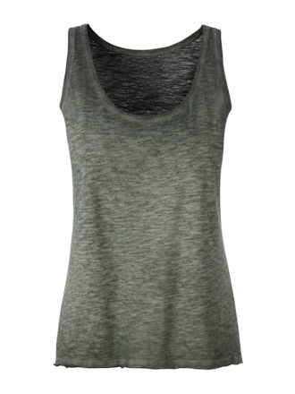 Ladies Slub Top James & Nicholson - dusty olive
