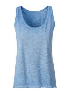 Ladies Slub Top James & Nicholson - horizon blue