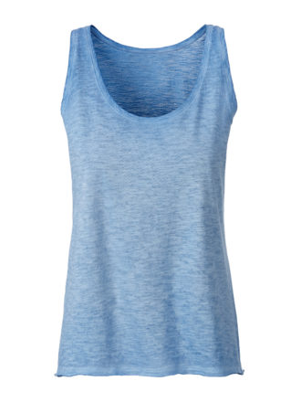 Ladies Slub Top James & Nicholson - horizon blue