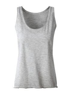 Ladies Slub Top James & Nicholson - light grey