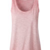 Ladies Slub Top James & Nicholson - soft pink