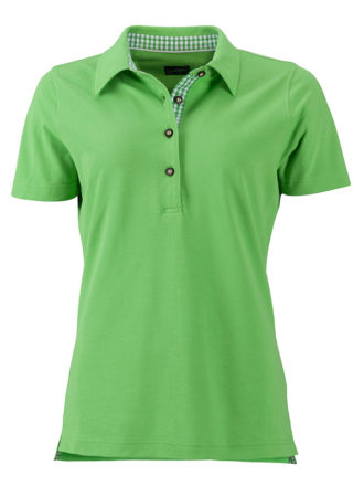 Ladies Traditional Polo James & Nicholson - lime green