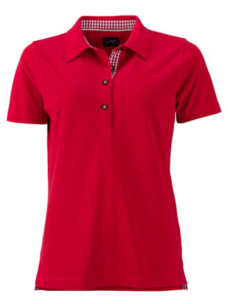 Ladies Traditional Polo James & Nicholson - red