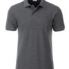 Mens Basic Polo James & Nicholson - black heather