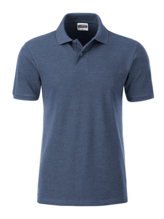 Mens Basic Polo James & Nicholson - light denim melange