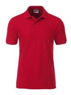 Mens Basic Polo James & Nicholson - red