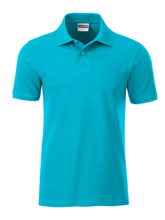 Mens Basic Polo James & Nicholson - turquoise