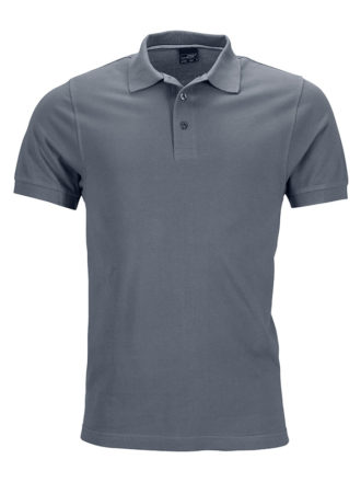 Mens Pima Polo James & Nicholson - carbon