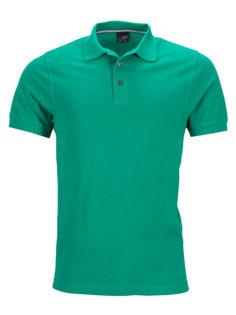 Mens Pima Polo James & Nicholson - irish green
