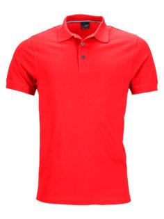 Mens Pima Polo James & Nicholson - light-red