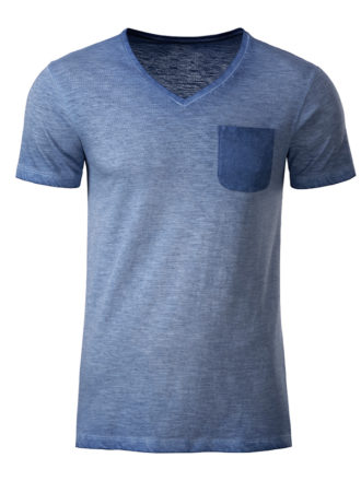 Mens Slub T James & Nicholson - denim