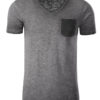 Mens Slub T James & Nicholson - graphite