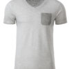Mens Slub T James & Nicholson - light grey