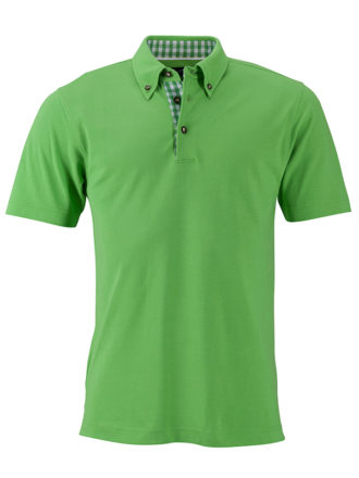 Mens Traditional Polo James & Nicholson - lime green