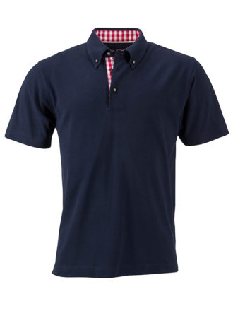 Mens Traditional Polo James & Nicholson - navy
