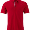 Mens Traditional Polo James & Nicholson - red