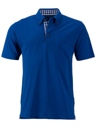 Mens Traditional Polo James & Nicholson - royal