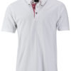 Mens Traditional Polo James & Nicholson - white