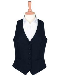 One Collection Luna Waistcoat Brook Taverner - black