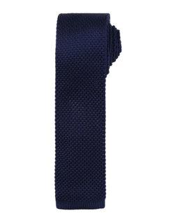 Slim Knitted Tie Premier - navy